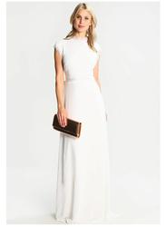 TFNC London Heidi Short Sleeve Bow Back Tie Maxi Dress, Extra Large, White
