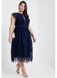 TFNC London Filly Sleeveless Midi Dress, 4 Extra Large, Navy Blue