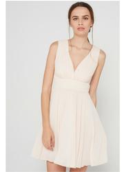 TFNC London Nordi Sleeveless Mini Dress, Large, Beige