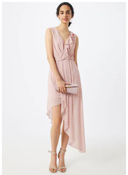TFNC London Tierra Sleeveless Midi Dress, 24 UK, Pink