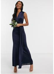 TFNC London Sleeveless Tall Multiway Maxi Dress, Double Extra Large, Navy Blue