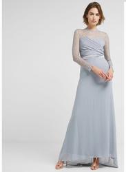 TFNC London Cimmaron Long Sleeve Maxi Dress, Double Extra Large, Light Green