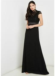 TFNC London Moana Short Sleeve Maxi Dress, Extra Large, Black