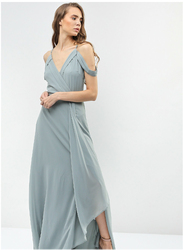 TFNC London Reynalda Strap Maxi Dress, 26 UK, Light Green