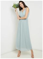 TFNC London Debby Sleeveless Sequin Maxi Dress, Large, Dusty Green