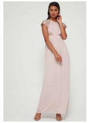 TFNC London Pearlie Sleeveless Maxi Dress, Large, Beige