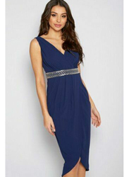 TFNC London Royce Sleeveless Sequin Midi Dress, Extra Large, Navy Blue