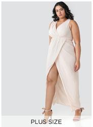 TFNC London Dixie Sleeveless Maxi Dress, Medium, Beige