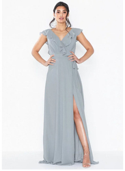 TFNC London Janean Sleeveless Maxi Dress, Small, Light Grey