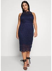 TFNC London Oneida Sleeveless Lace Midi Dress, Triple Extra Large, Navy Blue