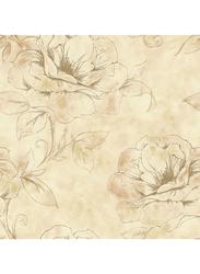 Wallquest West Village Floral Printed Wallpaper, 10 x 0.53 Meter, Beige/Peach