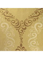 Selecta Parati Versilia Ornament Wallpaper, 10 x 0.53 Meter, Gold/Brown
