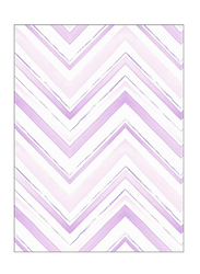 Wallquest Jelly Beans Zig Zag Printed Wallpaper, 0.52 x 10 Meter, White/Purple