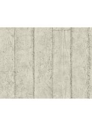 Wallquest Concrete Faux Printed Wallpaper, 8.23 x 0.68 Meter, Grey