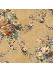 Wallquest Parisian Floral Printed Wallpaper, 10 x 0.53 Meter, Brown/Green/Purple
