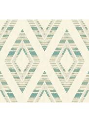 Wallquest Villa Rosa Diamond Block Pattern Self Adhesive Wallpaper, 0.68 x 8.23 Meter, Beige/Green