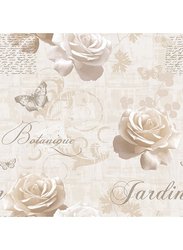 UGEPA Roses Romance Wall Covering, 0.53 x 10 Meter, Beige