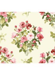Wallquest Villa Rosa Rose Printed Self Adhesive Wallpaper, 0.68 x 8.23 Meter, Beige/Pink