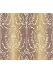 Wallquest Parisian Floral Victorian Printed Wallpaper, 10 x 0.53 Meter, Brown/Beige