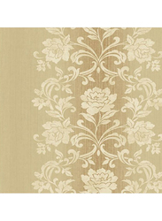 Wallquest Platinum Floral Pattern Wallpaper, 0.53 x 10 Meter, Gold