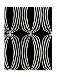 Prestigious Textiles Euphoria Geometrical Designed Wallpaper, 10 x 0.53 Meter, Black/Silver