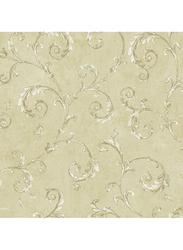 Wallquest Vintage Style Acanthus Printed Wallpaper, 10 x 0.53 Meter, Beige/Silver