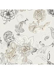 Wallquest Floral Pattern Decorative Wallpaper, 0.52 x 10 Meter, White/Black/Grey