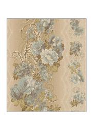 York Fitness Floral Stripe Charleston II Wallpaper, Brown/Blue