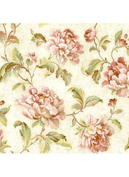 Wallquest Vintage Home Floral Printed Wallpaper, 10 x 0.53 Meter, Beige/Pink