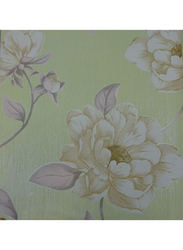 UGEPA Flowers Blossom Wall Covering, 0.53 x 10 Meter, Green/Beige
