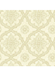 Wallquest Vintage Home Casbah Pattern Wallpaper, 10 x 0.53 Meter, Beige