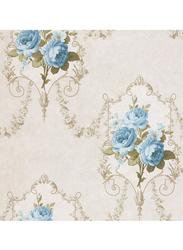 SK Filson Tudor Rose Cameo Printed Pattern Wallpaper, 10 x 0.53 Meter, Grey