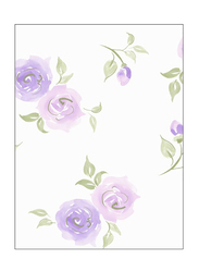 Wallquest Jelly Beans Rose Printed Wallpaper, 0.52 x 10 Meter, White/Purple/Green