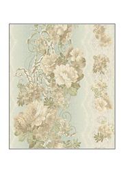 York Fitness Floral Stripe Charleston II Wallpaper, Brown/Green