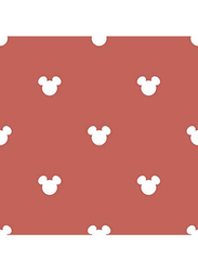 ICH Mickey Mouse Logo Printed Self Adhesive Wallpaper, 0.53 x 10 Meter, Red/White