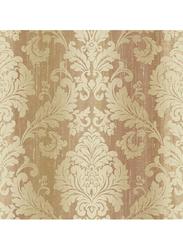 Wallquest Kashmir Damask Pattern Wallpaper, 0.53 x 10 Meter, Gold/Peach