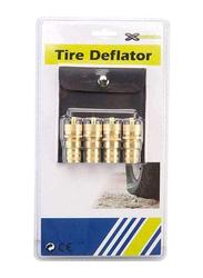 Xcessories Tyre Deflator Set, 4 Pieces, Gold