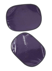 Xcessories Static Round Shaped Side Sunshade, Purple, 2 Pieces