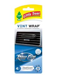 Little Trees Vent Wrap New Car Scent Air Freshener, Black