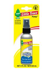 Little Trees Pump Spray New Car Scent, 60ml, Grey/Black