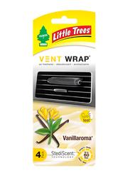 Little Trees Vent Wrap Vanillaroma Air Freshener, Black