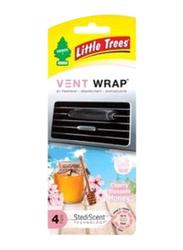 Little Trees Cherry Honey Blossom Vent Wrap Air Freshener, Black