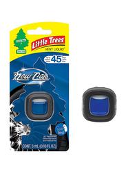 Little Trees Vent Liquid New Car Scent Air Freshener, Black/Blue