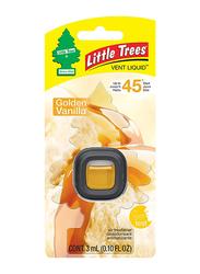 Little Trees Vent Liquid Golden Vanilla Air Freshener, Black/Yellow