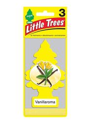Little Trees 3-Piece Card Vanillaroma Air Freshener, Yellow