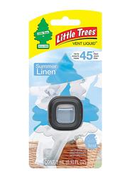 Little Trees Vent Liquid Summer Linen Air Freshener, Black/Clear