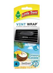 Little Trees Vent Wrap Caribbean Colada, Black