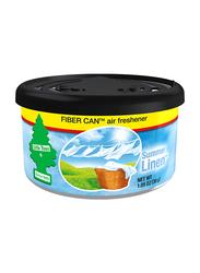 Little Trees Fiber Can Summer Linen Car Air Freshener, 30gm, Black/Blue/White
