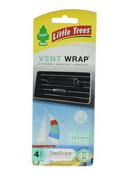 Little Trees Vent Wrap Bayside Breeze Car Air Freshener, Black