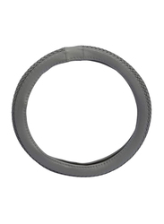 Xcessories Leather Type Wooven Steering Wheel Cover, Grey